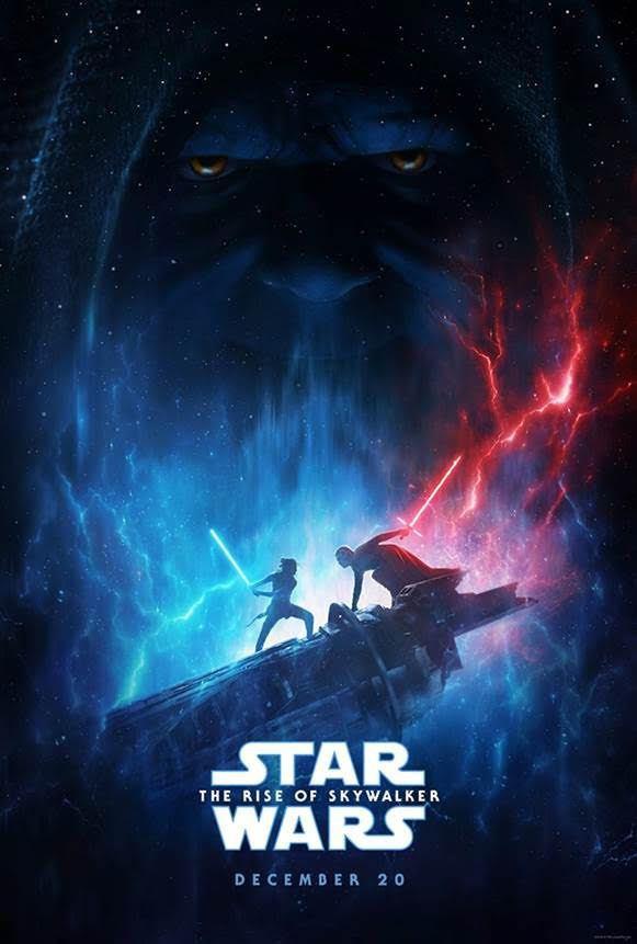 「STAR WARS : 天行者的崛起」最新絕美前導海報釋出。圖/迪士尼提供