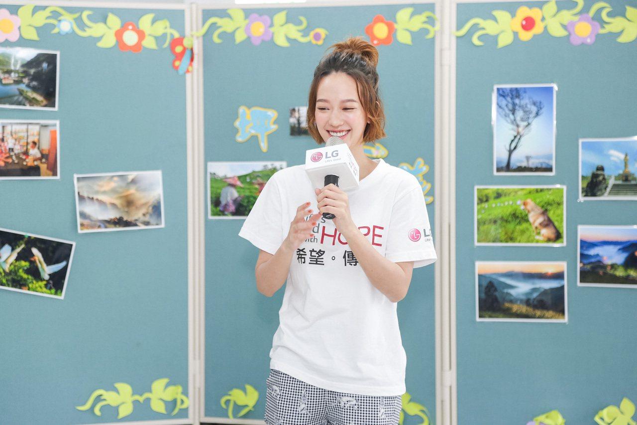 LG希望導師孟耿如,以自己築夢的故事鼓勵坪林國小的孩子們勇敢追逐未來希望,並期許...