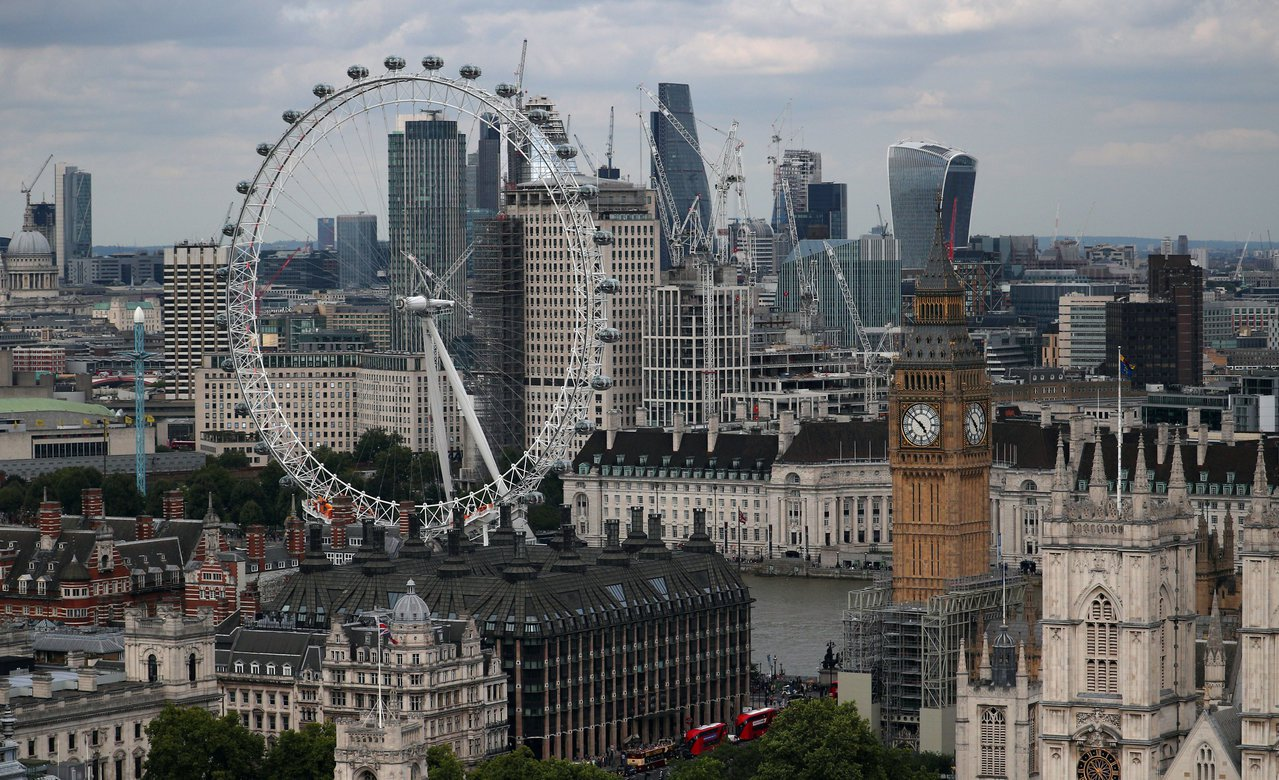 位於倫敦市中心的倫敦金融城。(路透)