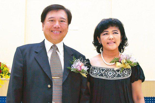 聯嘉光電董事長黃國欣(左)。 本報系資料庫