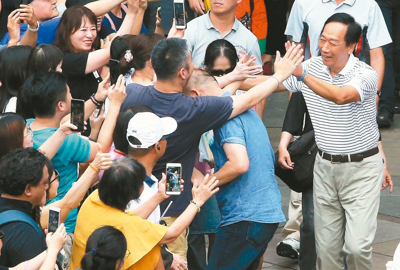 政壇傳言鴻海創辦人郭台銘在9月就會展開2020總統大選連署。 圖/聯合報系資料照...