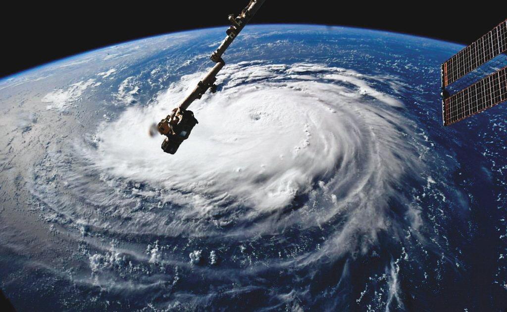 圖為2018年颶風佛羅倫斯。 路透