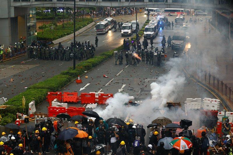 攝於8月25日,香港荃灣。 圖/路透社