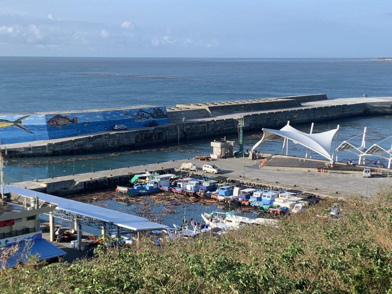 昨晚吹北風漂流木全被帶出場 富岡離島客輪下午恢航