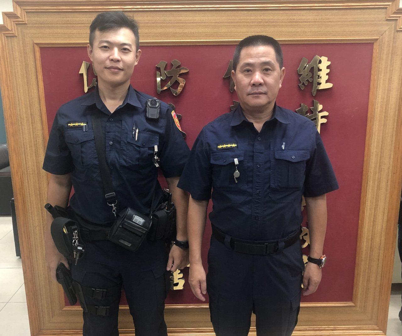 警方阻止婦人被騙。圖/記者廖炳棋翻攝