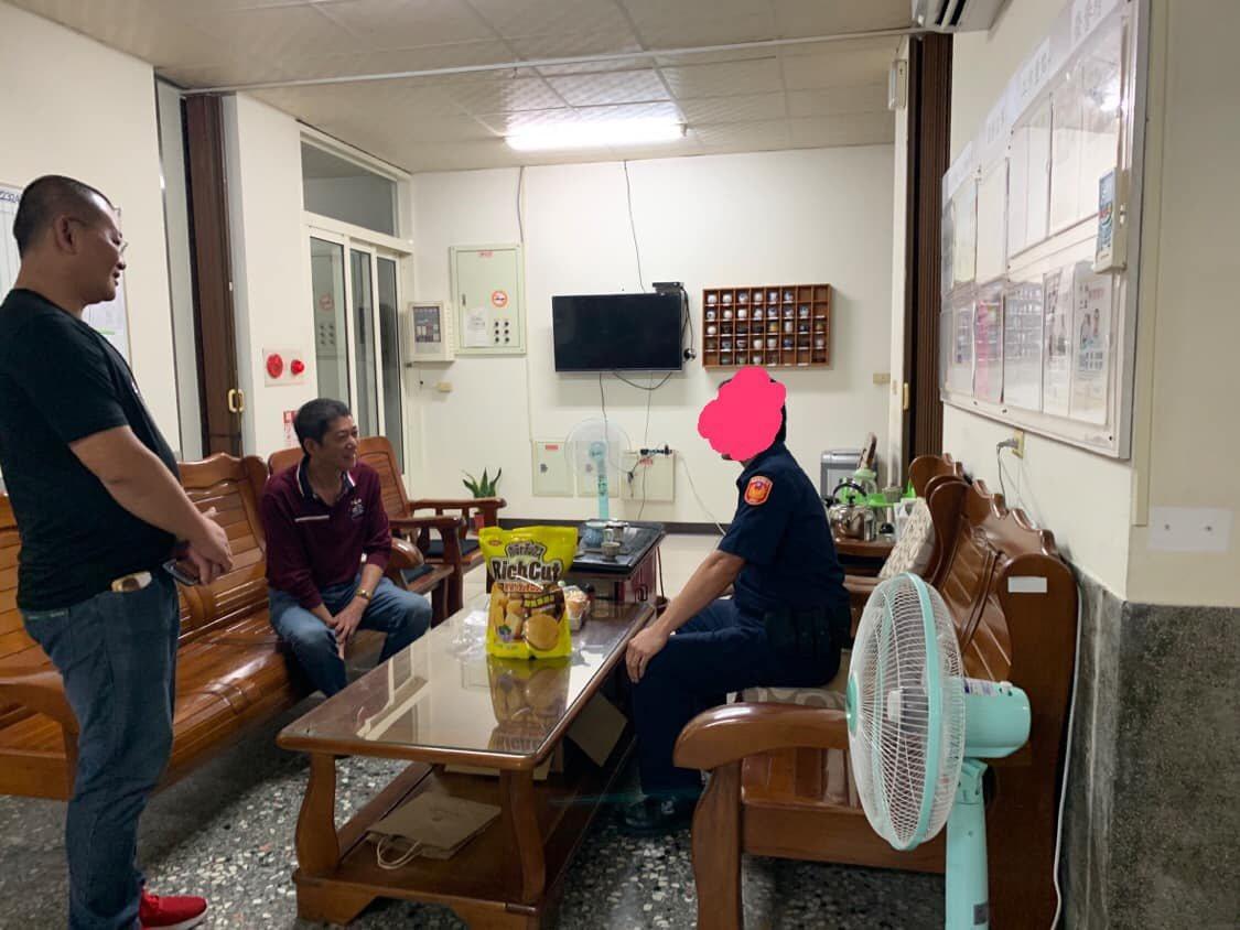 林國慶昨日在臉書發文,警方到他戶籍地查訪是職責所在,所以馬上到派出所報到説明。圖...
