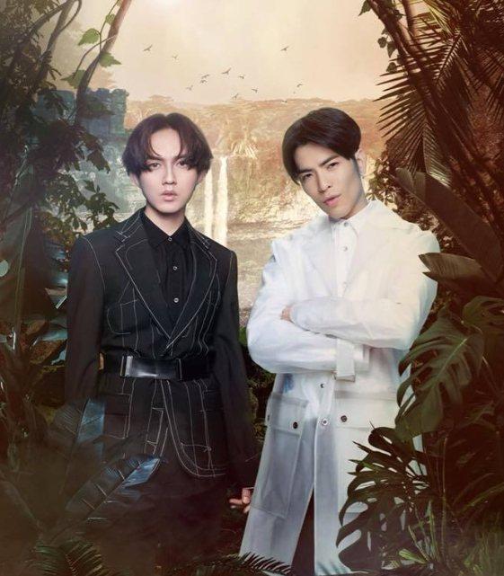 「聲林之王」蕭敬騰(右)、林宥嘉搭檔當導師。圖/詹仁雄提供