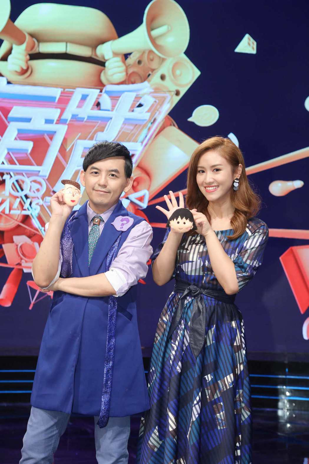 黃子佼(左)、吳姍儒主持公視「一呼百應」。圖/公視提供
