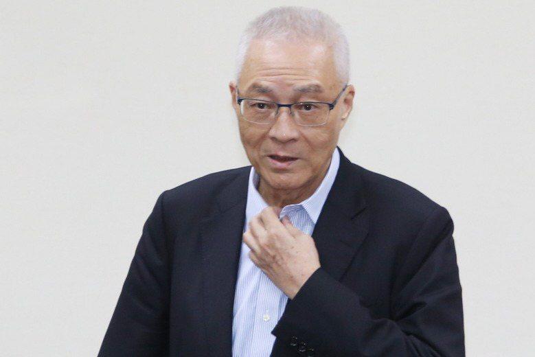 國民黨前主席吳敦義。 聯合報系資料照片/記者陳柏亨攝影