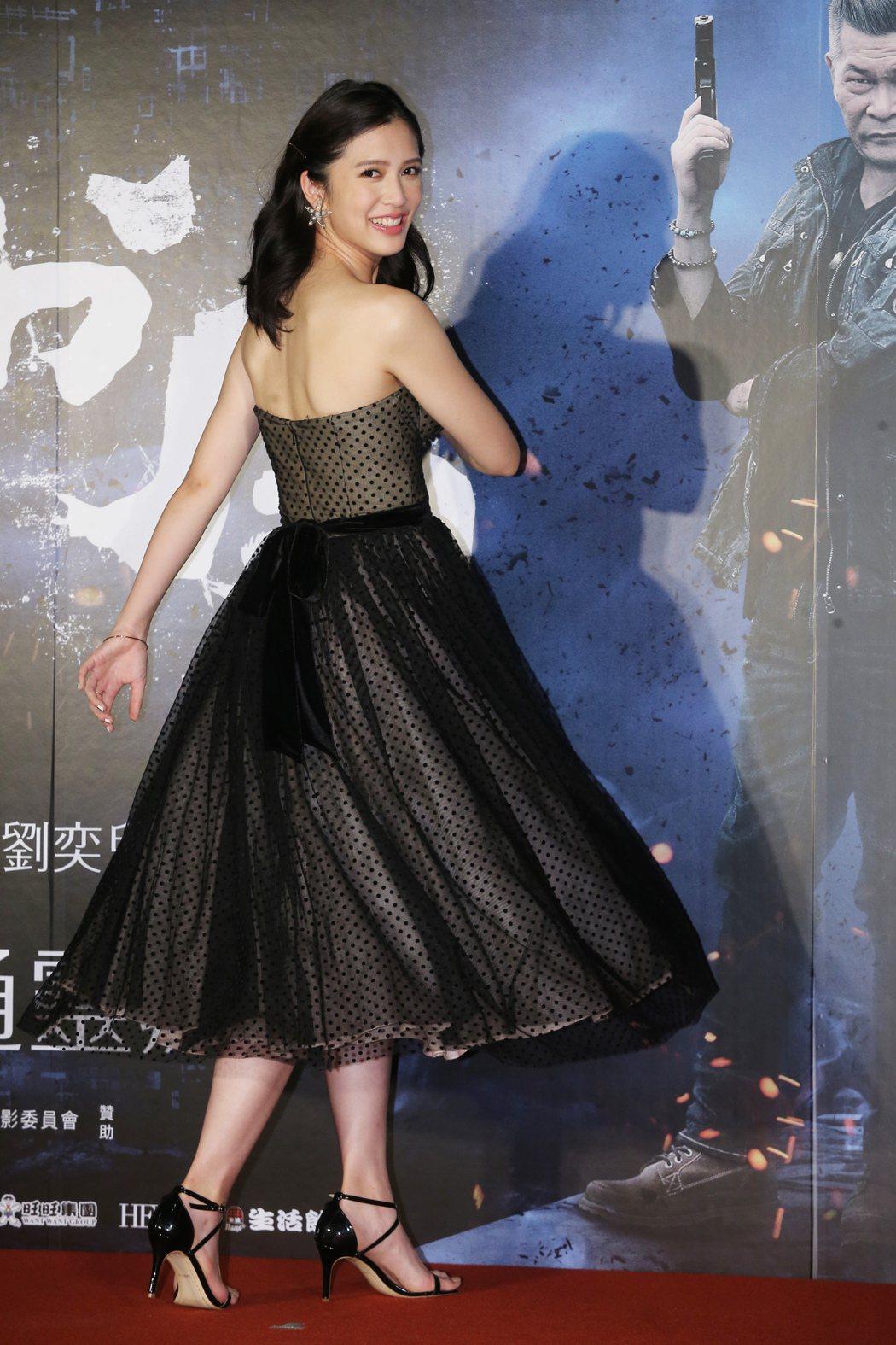劉奕兒出席「第九分局」首映會。記者徐兆玄/攝影