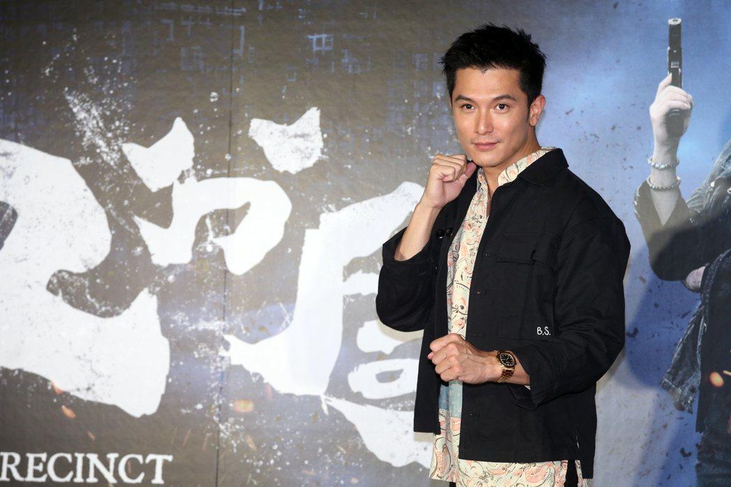 邱澤出席「第九分局」首映會。記者徐兆玄/攝影