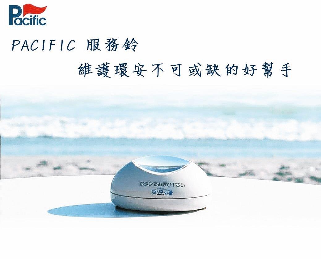 金碼科技展出主力產品PACIFIC無線安東系統服務鈴。 金碼科技/提供