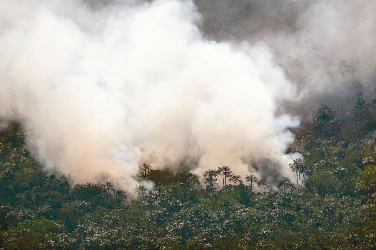 亞馬遜雨林火災引起全球關注。 (美聯社資料照片)