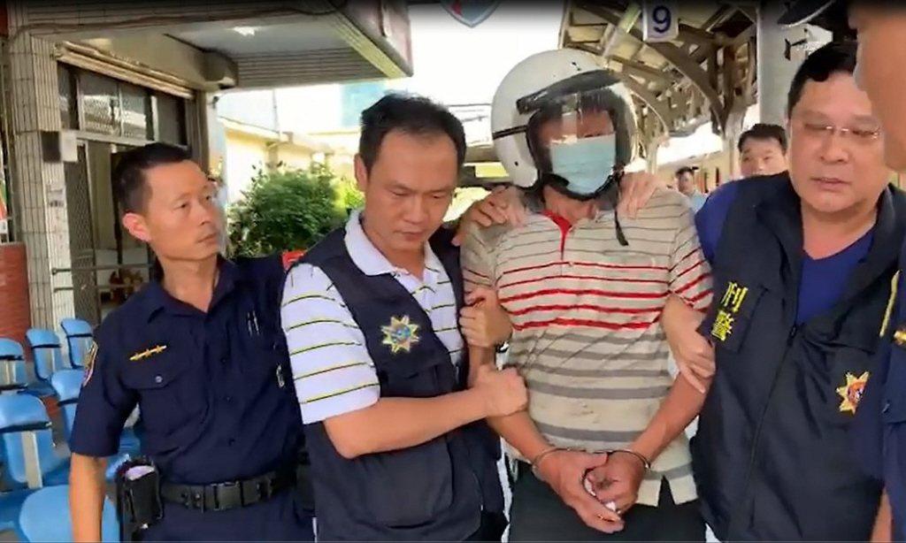 圖為殺害鐵路警察局嘉義派出所警員李承翰的鄭姓男子。聯合報系資料照