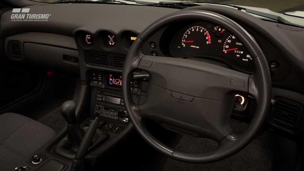 1991 Mitsubishi GTO Twin Turbo內裝。 摘自Gran...