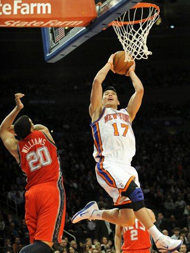 2012年2月4號,林書豪出戰籃網隊。 圖/美聯社