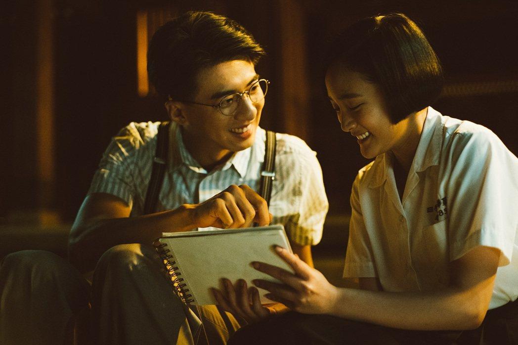傅孟柏(左)和王淨在片中談師生戀。圖/影一提供