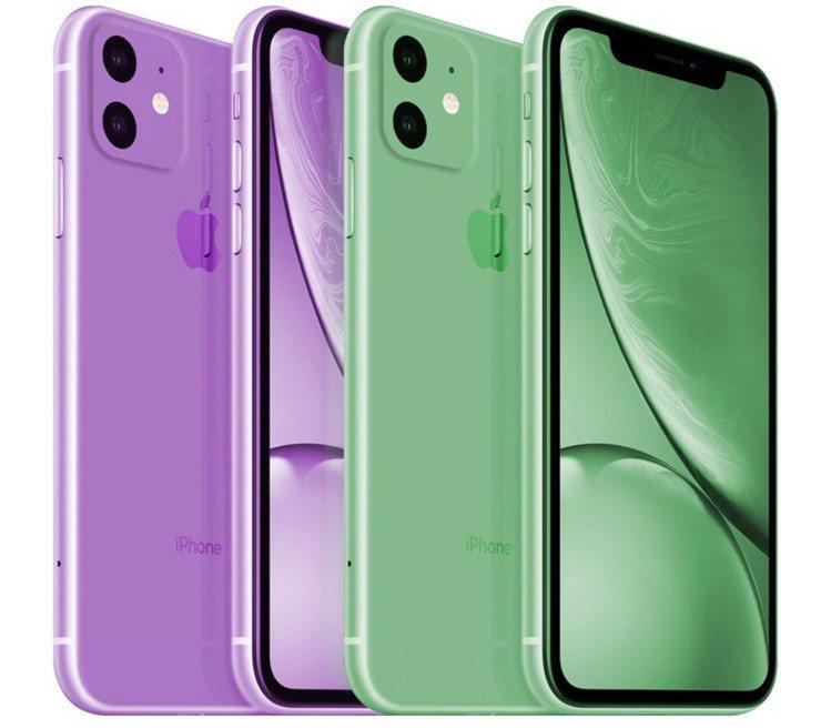 接續iPhone XR的後繼機種iPhone 11,很有可能會推出綠色跟紫色。圖...