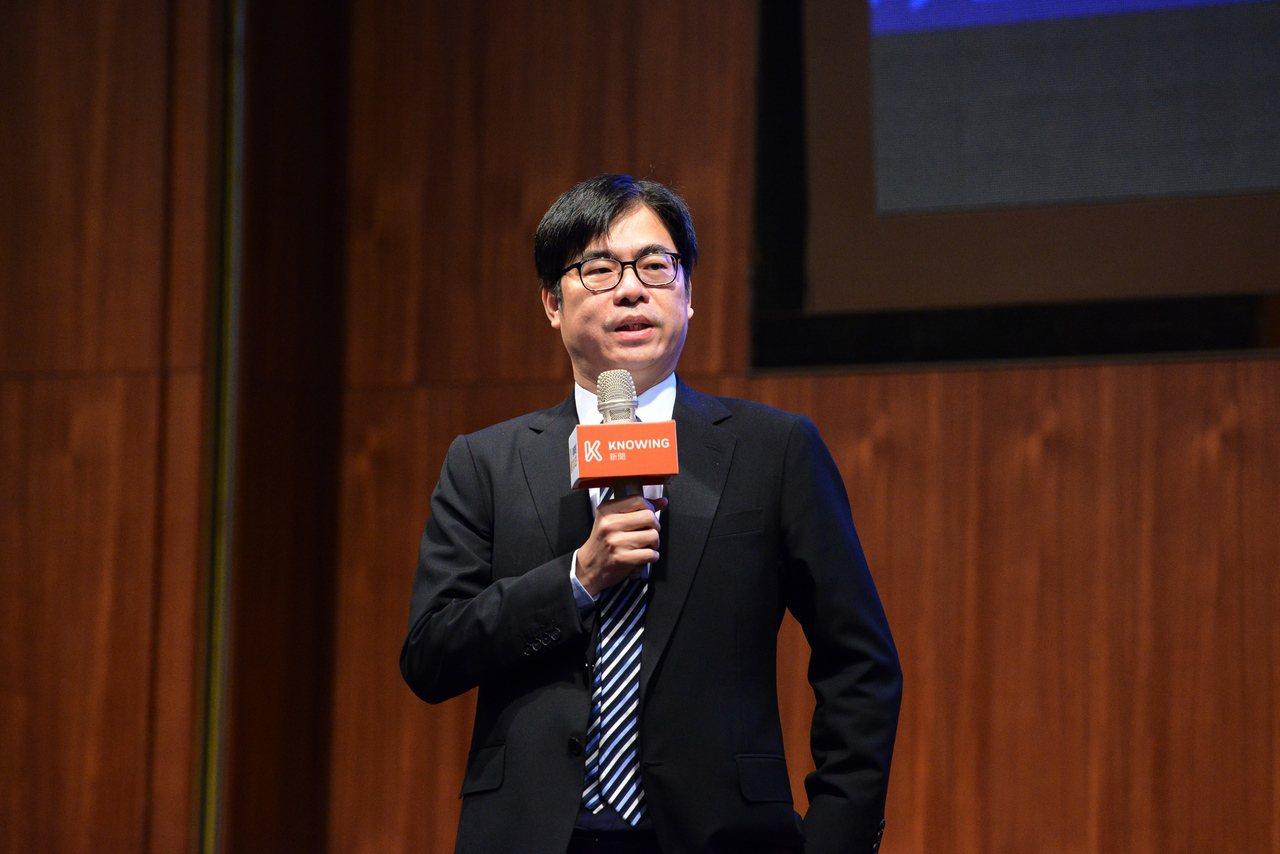 行政院副院長陳其邁表示,樂觀估計台灣2035年5G產業總體產值可達1,340億美...