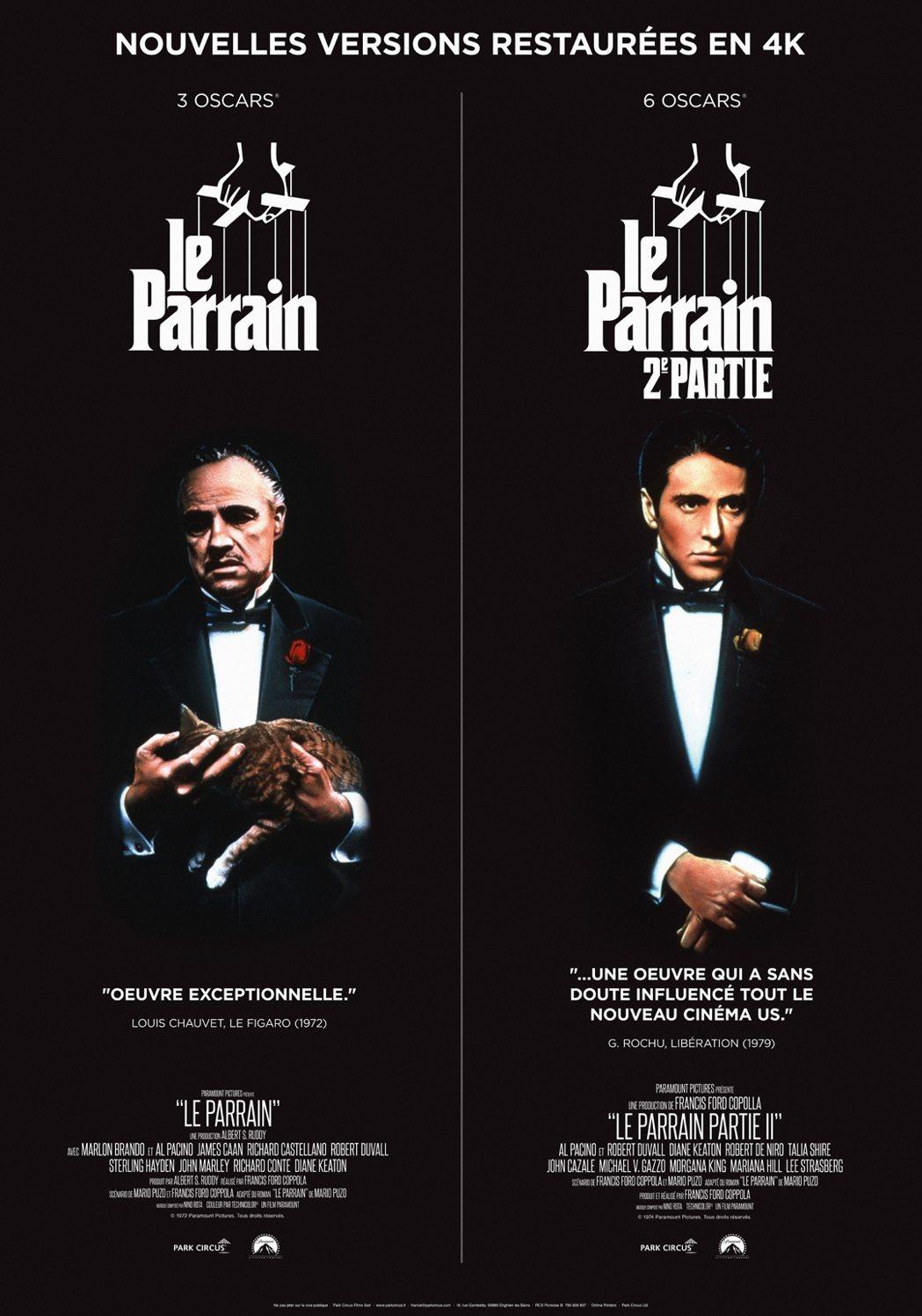 電影《教父》數位修復版的海報。圖/捷傑提供