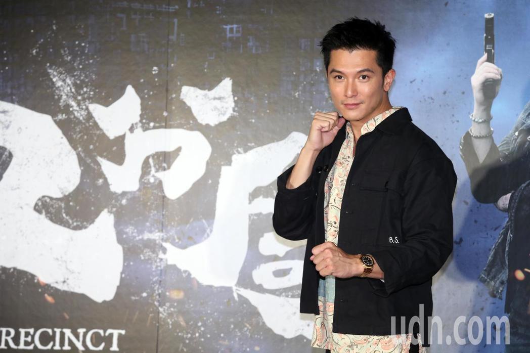 主要演員邱澤出席「第九分局」首映會 。記者徐兆玄/攝影