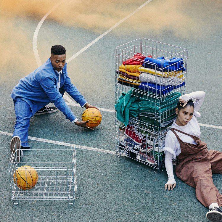 可堆疊的OMBYTE網籃可讓物品一目了然、輕鬆拿取,售價990元。圖/IKEA提...