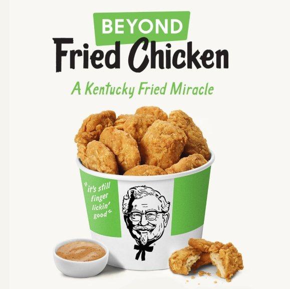 肯德基全素炸雞「Beyond Fried Chicken」。圖/摘自KFC tw...