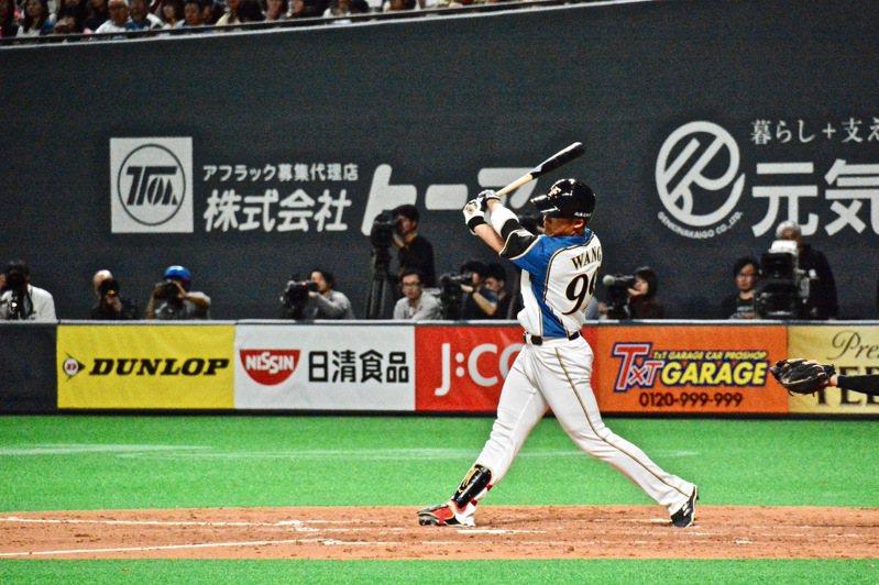 日本媒體「棒球周刊」預想明年賽季火腿先發打線,台將王柏融被排在第五棒、指定打擊。 圖/聯合報系資料照片