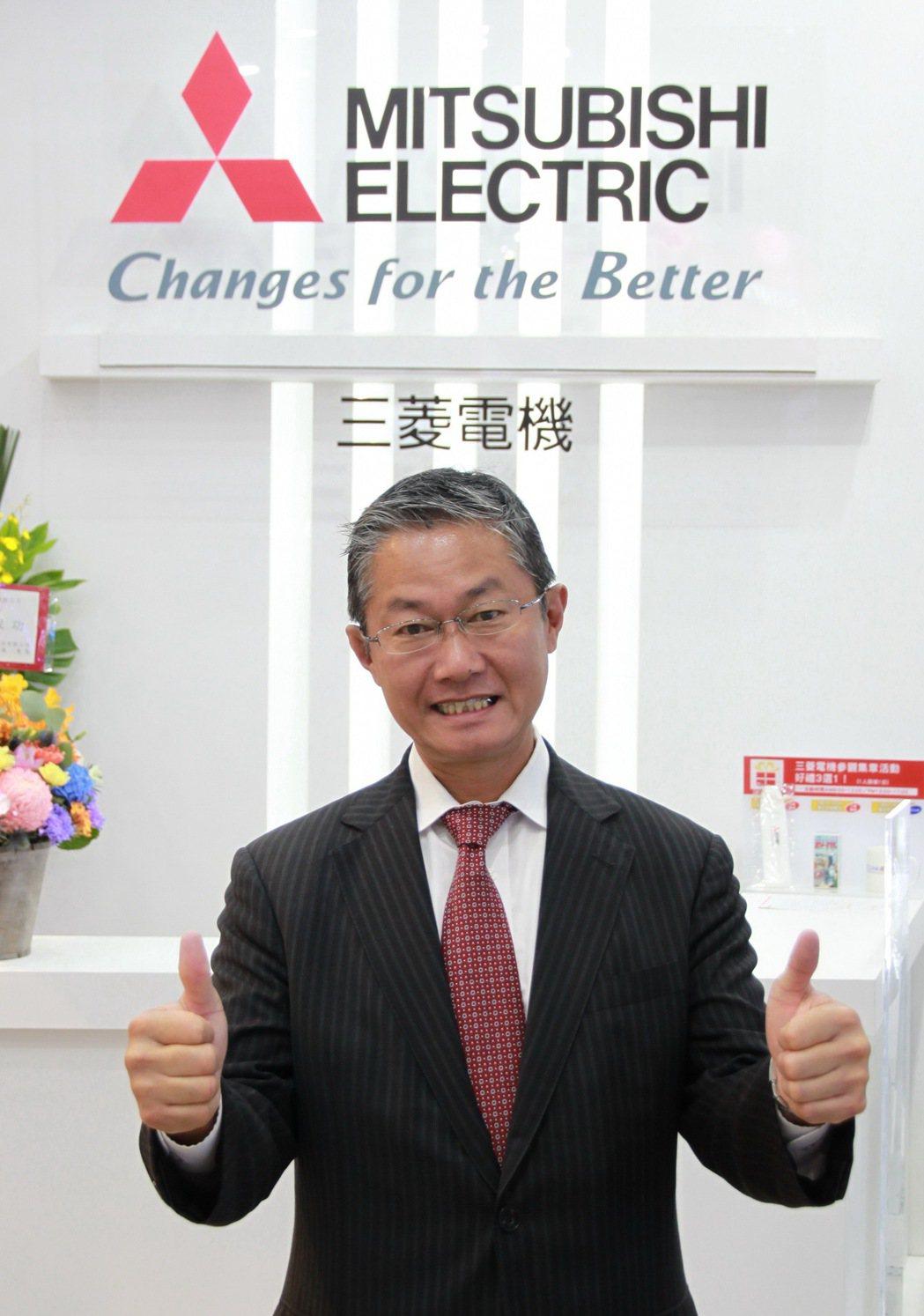 日本三菱電機FA海外事業部長清水則之。 孫震宇/攝影