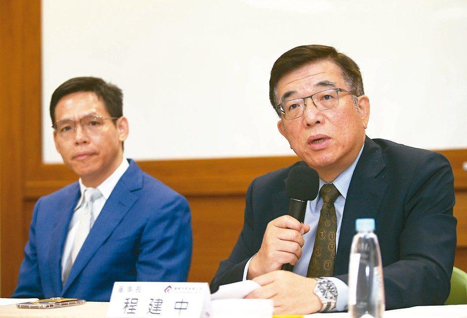 鎧勝董事長程建中(右)與總經理莊育志(左)。圖/聯合報系資料照片