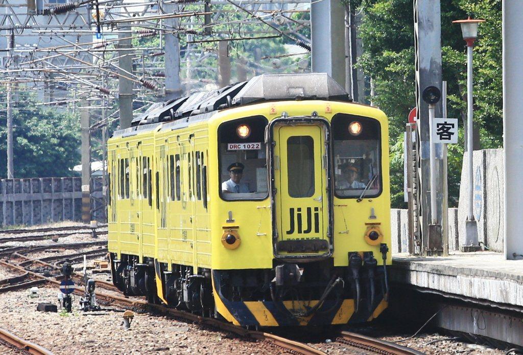 集集觀光列車以集集的經濟作物山蕉的顏色作為主色設計。 圖/聯合報系資料照