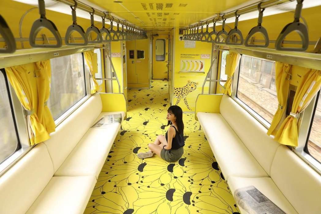 集集觀光列車因車廂的石虎圖案根本不像,引發輿論爭議。 圖/取自設計師江孟芝臉書