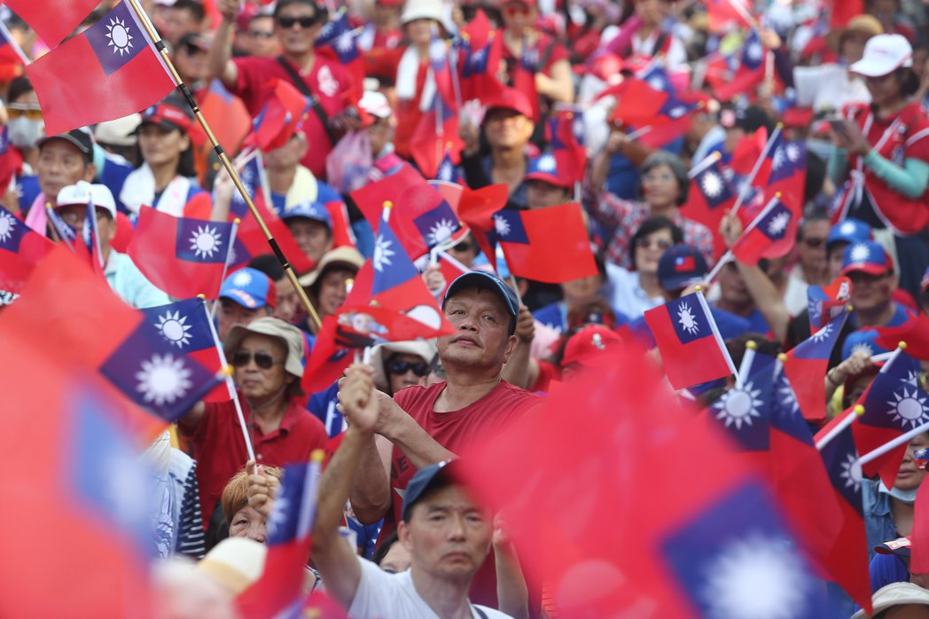 支持者參加韓國瑜的造勢活動。 圖/聯合報系資料照