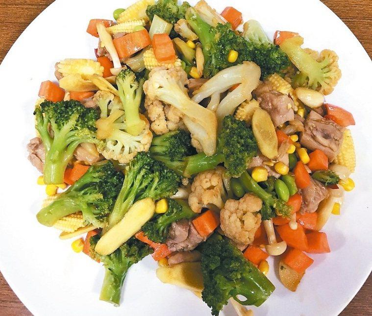 花椰菜炒雞肉,示意圖,報系資料照