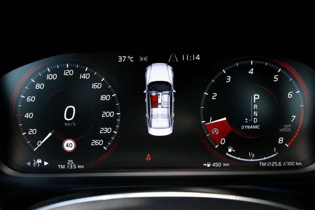 12.3吋數位儀表板除了提供行車資訊外,也可顯示多媒體及導航。 記者陳威任/攝影