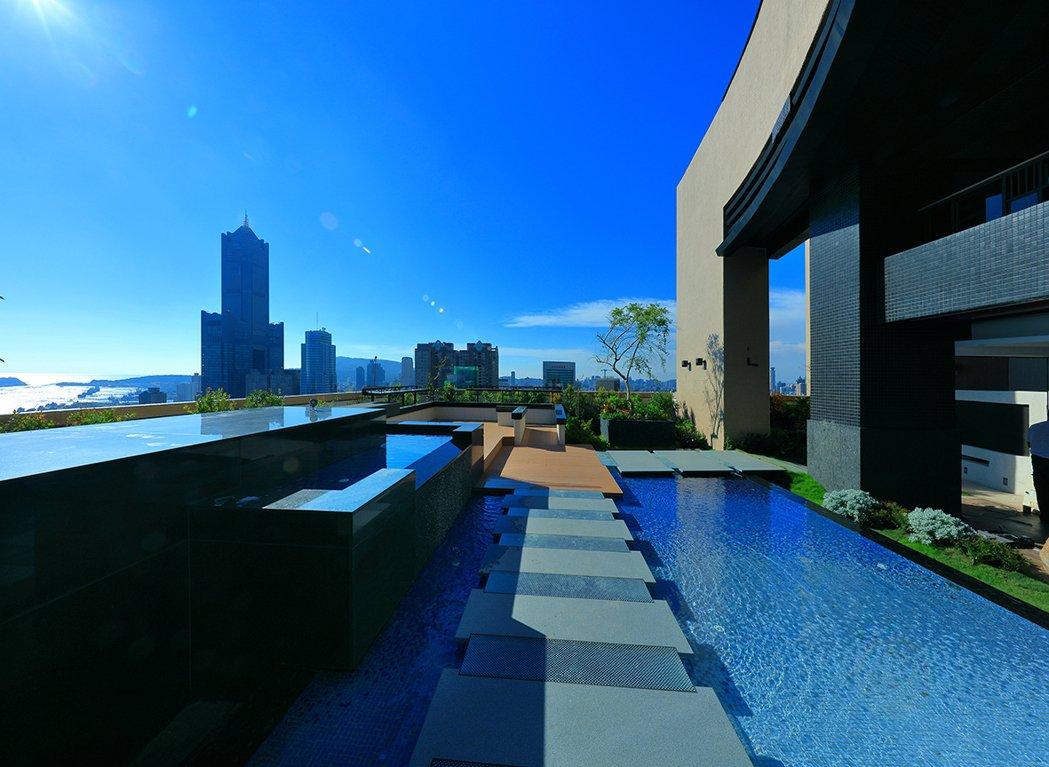 空中花園/頂樓空中花園,享受雲端海天一色的浩瀚景致,360度收納城市豪景。圖片提...