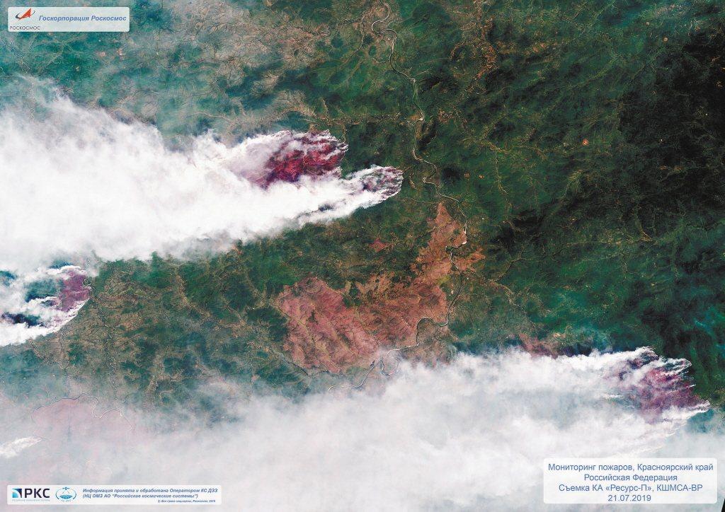 俄羅斯航太(Roscosmos Space Agency)提供的衛星照片中,可以...