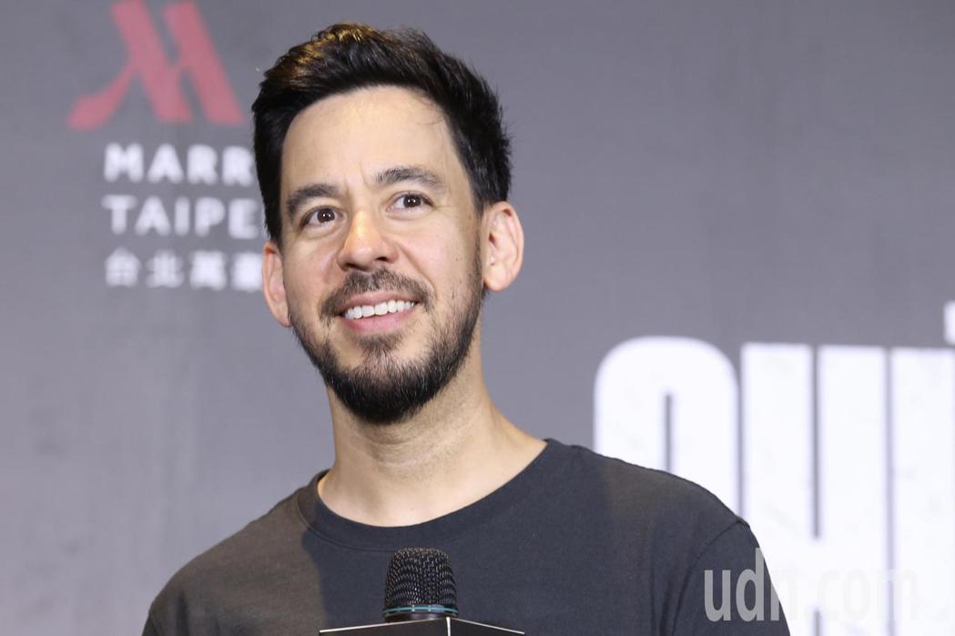 「聯合公園 首腦」麥可Mike Shinoda中午在台北大直萬豪酒店舉行媒體聯訪...