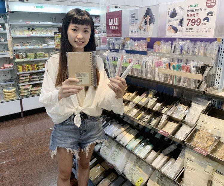 全台7-ELEVEN無印良品專櫃店數已達1,245店,以往開學月帶動文具用品平均...