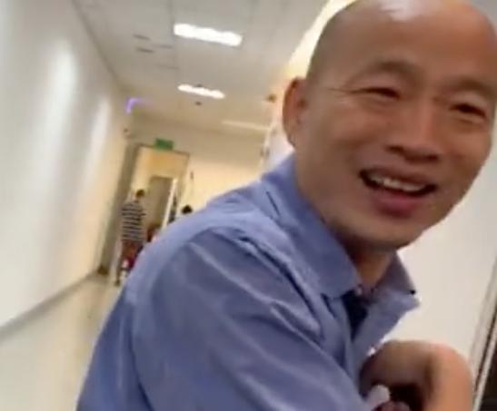 媒體請問韓國瑜對「韓朱配」看法,韓笑著說:「謝謝大家!」記者徐如宜/攝影