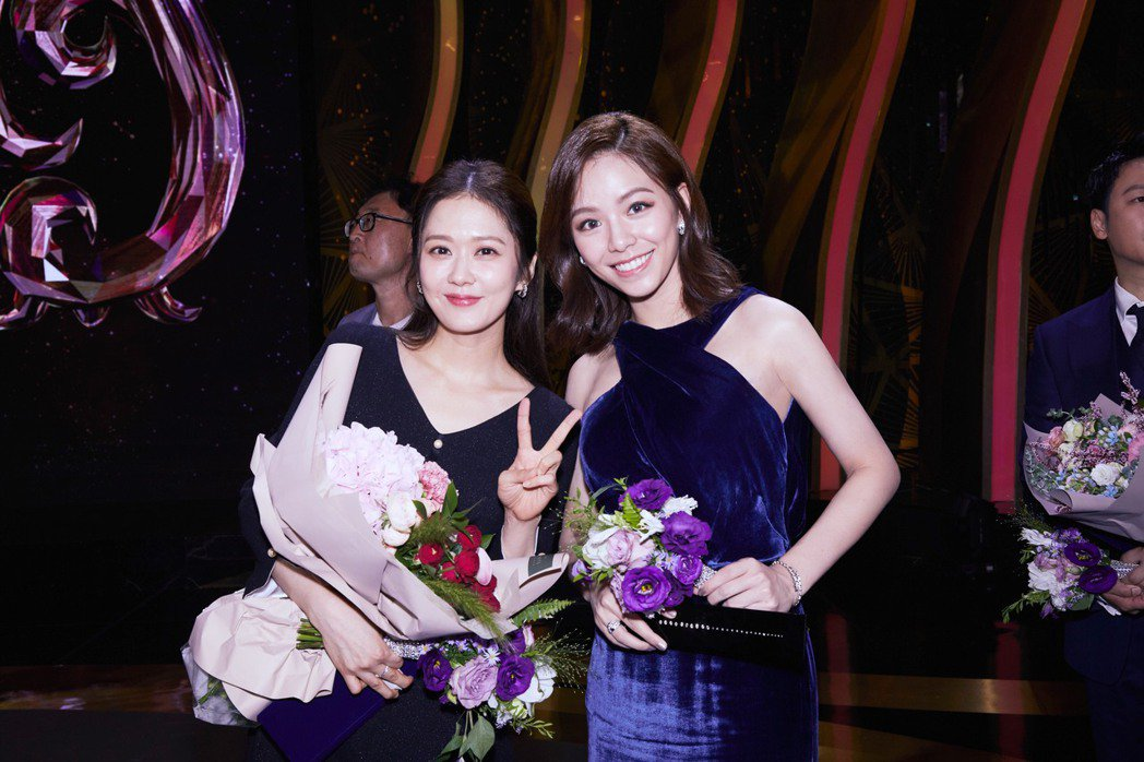 宋芸樺與本屆首爾國際電視節視后張娜拉合影。圖/群星瑞智提供
