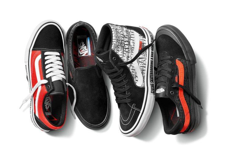 今夏Vans則與滑板品牌Baker Skateboards合作多款聯名商品。圖/...
