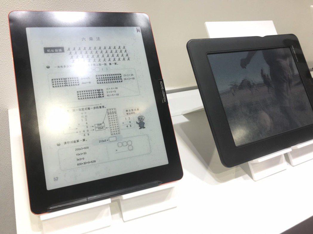 元太與Plastic Logic合作開發的OTFT電子紙產品。記者蔡銘仁/攝影