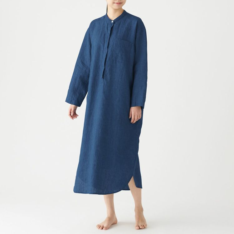 MUJI無印良品「文脈」系列:女有機亞麻庫塔長上衣,售價1,790元,統一時代門...