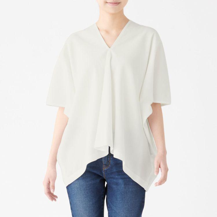 MUJI無印良品「文脈」系列:女有機棉高島縮織套衫,售價1,190元,統一時代與...