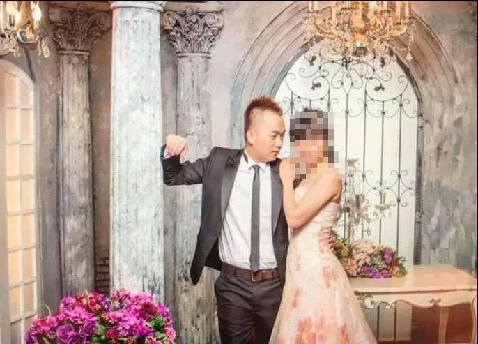 薛定岳在本月22日才與交往9年的侯姓女友拍完婚紗。記者李奕昕/翻攝