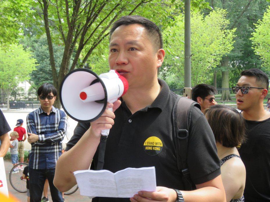 中國大陸流亡民主人士王丹。 聯合報系資料照片/華盛頓記者張加攝影