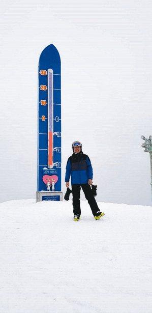 傅文芳於北海道二世谷的滑雪經歷令他難忘。 攝影/陳立凱   圖/傅文芳提供