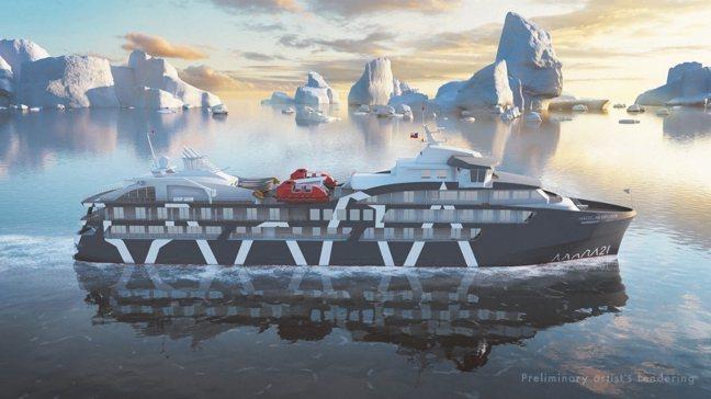麥哲倫探索號雖比起一般在海上行走的遊輪小上許多,但對在南極航行來說,可是非常豪華...