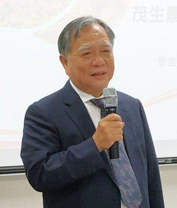 茂生農經董事長吳清德。記者何秀玲/攝影